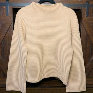 MinkPink Ribbed Bell Sleeve Sweater Size M